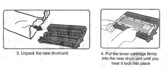 Replace / Install Brother TN-660 / TN-630 toner cartridge
