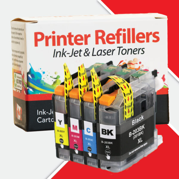 Printer Refillers Brother LC-203XL 4-Pack